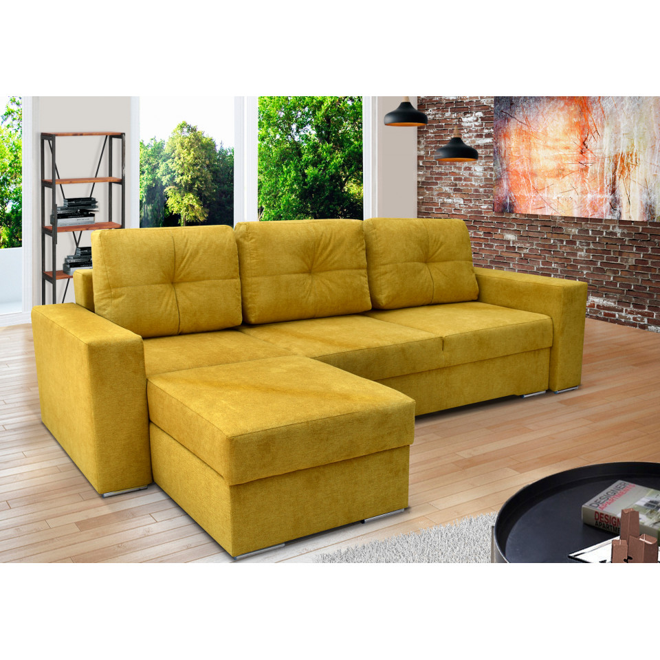 PEGASUS   corner sofa bed with two storage compartments ...